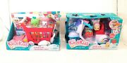 Kindi Kids Fun Delivery Scooter And Shopping Cart With 2 Shopkins Each.new