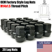 20 Black Oem Factory Style Lug Nuts M14x1.5 For Jeep Grand Cherokee Gladiator
