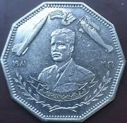 Iraq 1 Dinar Of 1981 Golden Jubilee For Iraqi Air Force In Aunc Cond./lot4