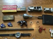 Mix Lot Junk Drawer Of Mix Vintage Toys And Other Vintage Stuff