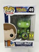 Funko Pop Back To The Future Marty Mcfly 49 Glow In The Dark Pop Protector