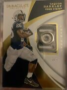 2018 Saquon Barkley Rookie Immaculate Chin Snap Relic /8 Rc Ssp Penn State