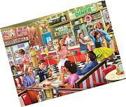 White Mountain Puzzles American Diner, 1000 Piece Jigsaw Puzzle