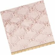 Shannon Fabrics Shannon Minky Luxe Cuddle Lattice Rose Water Fabric By The Yard