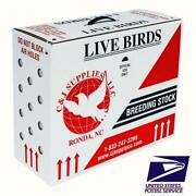 Live Bird Shipping Box High - Usps Approved - Poultry Pigeons And Canaries