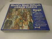 Worlds Most Difficult Jigsaw Puzzle And039dogsand039 Double Sided Buffalo Usa 1996 Sealed