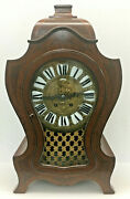 Xxl Antique French Black Starr And Frost Wasted Mantel Clock