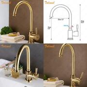 Luxury Solid Brass Kitchen Faucet Mixer Tap Swivel Spout Cold Hot Water Brass Po