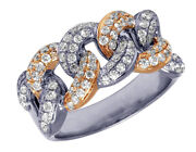 2.10ct Natural Round Diamond 14k Solid White Gold Cocktail Ring Size 7