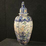 Italian Vase Cup Furniture Object Antique Style Painted Ceramic 900