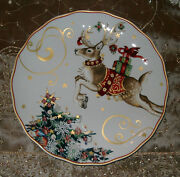 Reindeer - Dinner Plate - Williams Sonoma 'twas The Night Before Christmas New