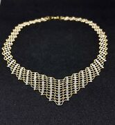 14k Two Tone Cleopatra Necklace And Earring Set