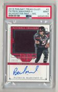 Patrick Mahomes 2019 Treasures Silhouettes Auto 15/25 Jersey Number Psa 9 Mint