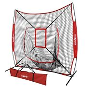 7and039x7and039 Baseball Practice Net Pitching Training Aid With Strike Zone Outdoor