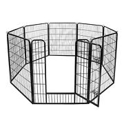 39h Detachable 8 Panel Dog Playpen Exercise Fence Kennel Crate Play In Garden