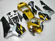 Gold Black Silver/gray Abs Injection Fairing Kit Fit For 2003 2004 Cbr600rr