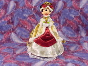Rare 2010 Walt Disney Victorian Ivory And Gold Minnie Mouse Christmas Tree Topper