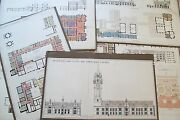 19th Century Architectural Drawings Town House And Law Courts Cardiff Wales Uk 7