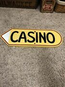 Casino Sign Nice Double Sided Casino Path Sign Old Fold Art Wood