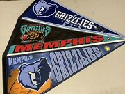 3 Memphis And 1 Vancouver Grizzlies Nba Basketball Wincraft 12x30 Inch Pennants