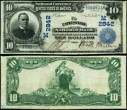 Painesville Oh-ohio 10 1902 Pb National Bank Note Ch 2842 Painesville Nb Vf+