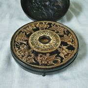 Antique Chinese Feng Shui Compass With Cover Collectible Perfect Condition