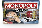Hasbro Monopoly For Sore Losers Board Game The Game Where It Pays To Lose New