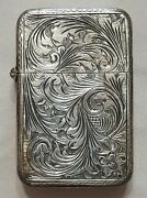 Vintage Peruzzi Bros 800 Silver Match Holder Case Florence Italy With Box