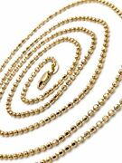 14kt Yellow Gold Milor Italy 9.9g High Polished Mirror Finish Bead Chain 32.5andrdquo