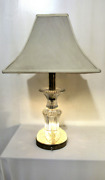 Rare Vintage Cut Crystal 1930s Table Lamp Free Shipping In Cont. U.s.