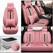 5-seats Car Seat Cover Fit For Ford Fusion 2009-2019 Waterproof Seat Coverpink