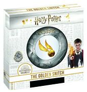 Harry Potter Golden Snitch - 2 Oz Silver Coin Samoa 5 2020 Pure Gold Inlay