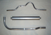 1928-1929 Buick Master Exhaust System, 6 Cyl., Aluminized, Series 120, 128, 121