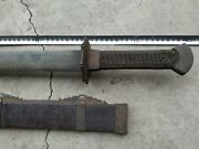 Collectable Chinese Talisman Qing Dao Straight Sword Sharp Old Blade