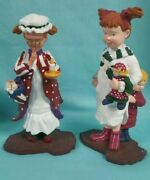 Dept 56 Figurines Mary Jo.sarah Kay And Andy Each In Night Gowns In Original Box
