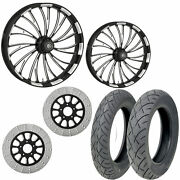Rc Axxis Eclipse 21/18 Front Rear Wheel Package Set Tires Rotors Harley Touring