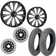 Rc Cynical Eclipse 21/18 Front Rear Wheel Package Set Tires Rotors Harley Flh/t