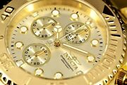Menand039s Pro Diver 18k Gold Plated Ss Chronograph Champagne Dial 695 Watch