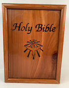 Holy Bible Dove Of Peace King James Version In Wood Cedar Box
