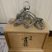 Dragon Silver Ornament With Crystal Antique Free Shipping From Japan