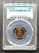1972-s Proof Lincoln Memorial Cent Pcgs Pr-68 Dcam Buy 3 Items Get 5 Off