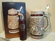 Nwb Vtg Avon Western Round-up Ceramic Beer Stein And Wild Country Cologne 1980