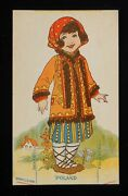 1920s Poland Cut-out Doll Fogelson's Better Bread Fogelson's Bakery Newton Nj