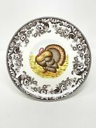 """Spode Woodland Turkey Footed Cake Platter Stand Fine China New 10.5"""""""