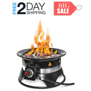 19-inch Firebowl Outdoor Portable Propane Gas Fire Pit With Cover And Carry Kit