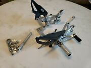 Ducati Corse By Rizoma Panigale V4 Rear Sets / Factory Carbon Fiber Heel Guards