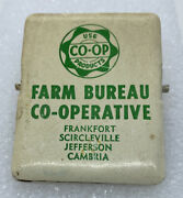 Indiana In Farm Bureau Coop Advertising Metal Clip Feed Seed Agriculture Tractor