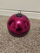 Pottery Barn Ornament Candle Pot 3 Wick Red Christmas Decor Mercury Glass