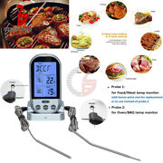 Wireless Remote Cooking Thermometer Digital Bbq Grill Oven Meat Smoker And Timer
