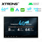 Built-in 4g 2-din 10.1 Car Dvd Gps Stereo Radio Dsp Android 10 8-core 4gb+64gb